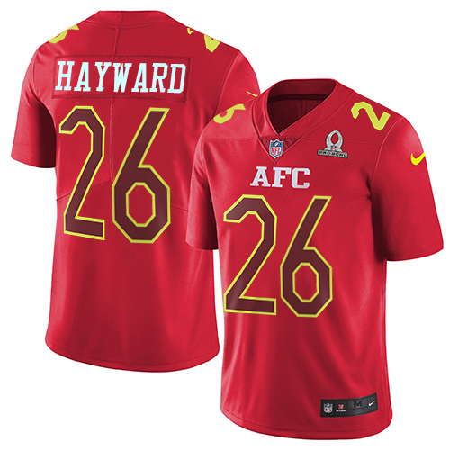 Nike Chargers #26 Casey Hayward Red Men's Stitched NFL Limited AFC Pro Bowl Jersey
