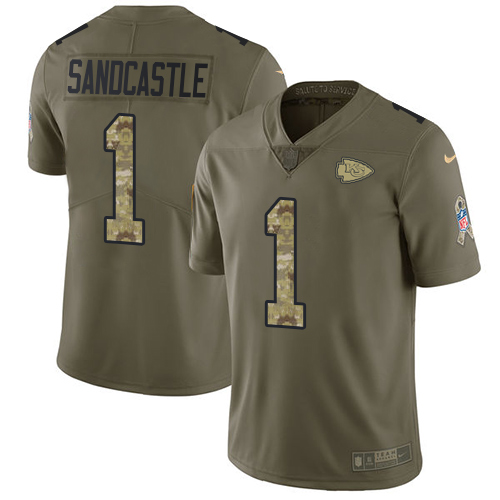 Nike Chiefs #1 Leon Sandcastle Olive/Camo Men's Stitched NFL Limited Salute To Service Jersey