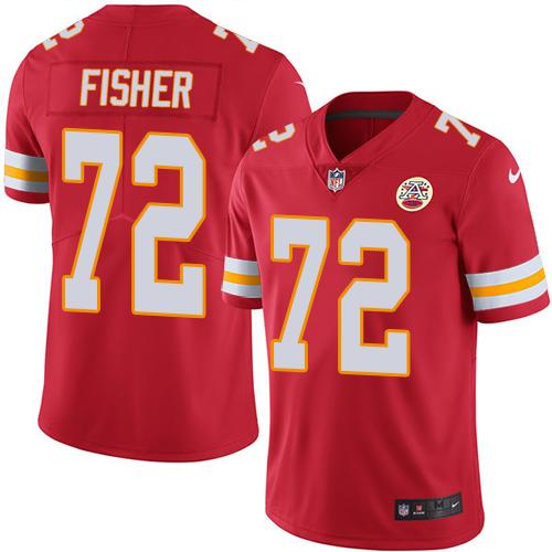 Nike Chiefs #72 Eric Fisher Red Team Color Men's Stitched NFL Vapor Untouchable Limited Jersey