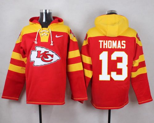 Nike Chiefs #13 De'Anthony Thomas Red Player Pullover NFL Hoodie