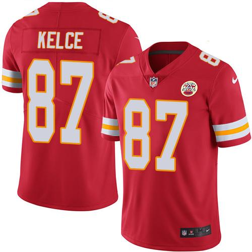 Nike Chiefs #87 Travis Kelce Red Team Color Men's Stitched NFL Vapor Untouchable Limited Jersey