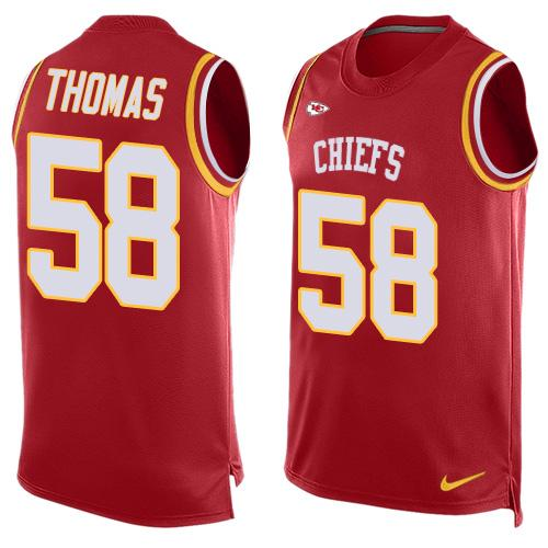 Nike Chiefs #58 Derrick Thomas Red Team Color Men's Stitched NFL Limited Tank Top Jersey