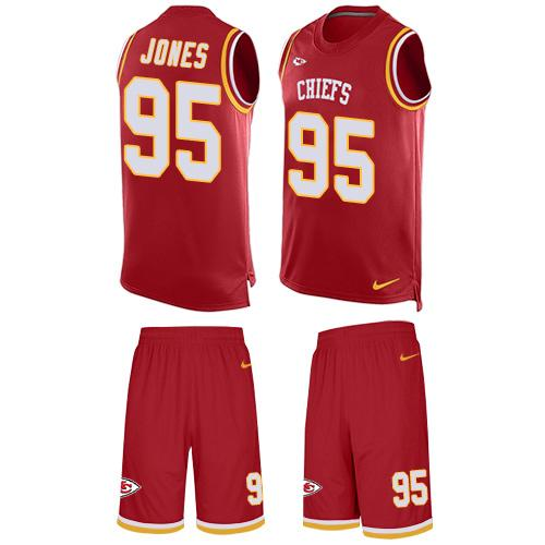 Nike Chiefs #95 Chris Jones Red Team Color Men's Stitched NFL Limited Tank Top Suit Jersey
