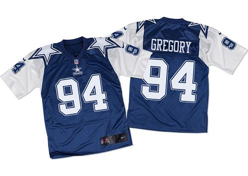 Nike Cowboys #94 Randy Gregory Navy Blue/White Throwback Men's Stitched NFL Elite Jersey