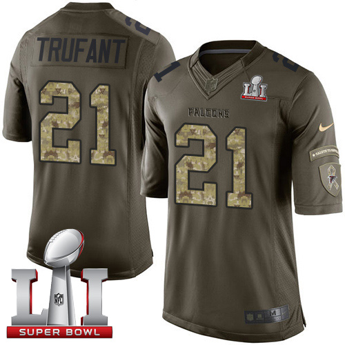 Nike Falcons #21 Desmond Trufant Green Super Bowl LI 51 Men's Stitched NFL Limited Salute To Service Jersey