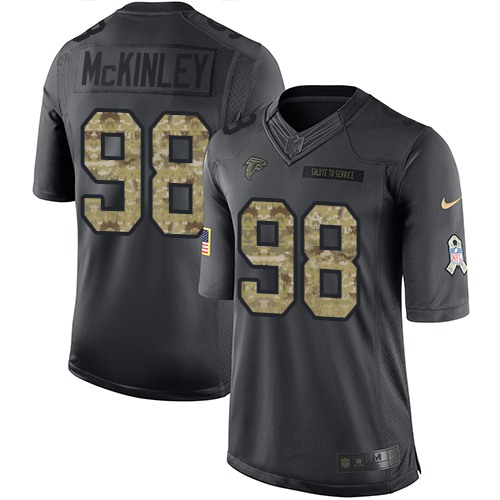 Nike Falcons #98 Takkarist McKinley Black Men's Stitched NFL Limited 2016 Salute To Service Jersey