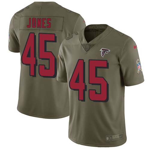Nike Falcons #45 Deion Jones Olive Men's Stitched NFL Limited Salute To Service Jersey