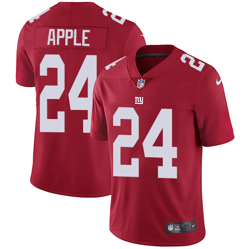 Nike Giants #24 Eli Apple Red Alternate Men's Stitched NFL Vapor Untouchable Limited Jersey