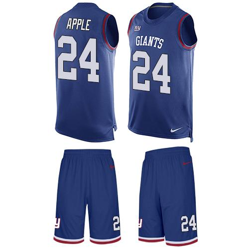 Nike Giants #24 Eli Apple Royal Blue Team Color Men's Stitched NFL Limited Tank Top Suit Jersey