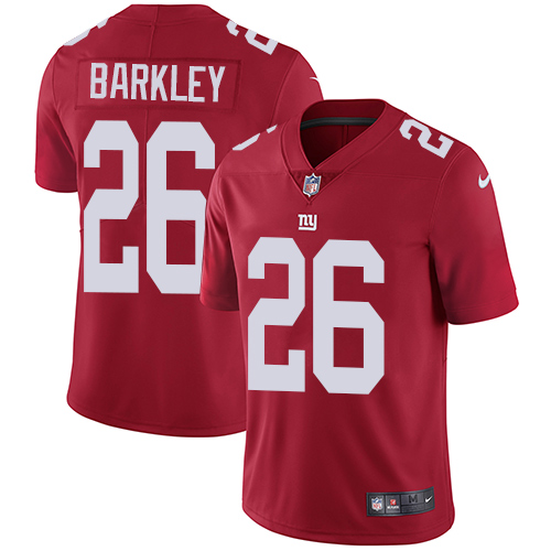 Nike Giants #26 Saquon Barkley Red Alternate Men's Stitched NFL Vapor Untouchable Limited Jersey