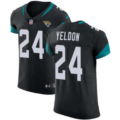 Nike Jaguars #24 T.J. Yeldon Black Alternate Men's Stitched NFL Vapor Untouchable Elite Jersey