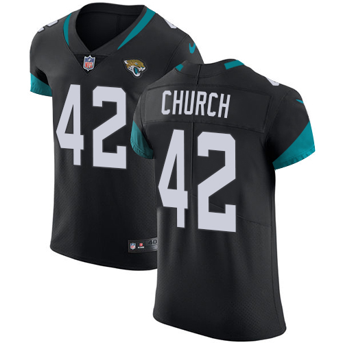 Nike Jaguars #42 Barry Church Black Alternate Men's Stitched NFL Vapor Untouchable Elite Jersey