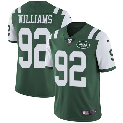 Nike Jets #92 Leonard Williams Green Team Color Men's Stitched NFL Vapor Untouchable Limited Jersey