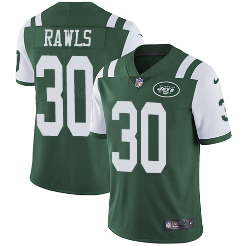 Nike Jets #30 Thomas Rawls Green Team Color Men's Stitched NFL Vapor Untouchable Limited Jersey