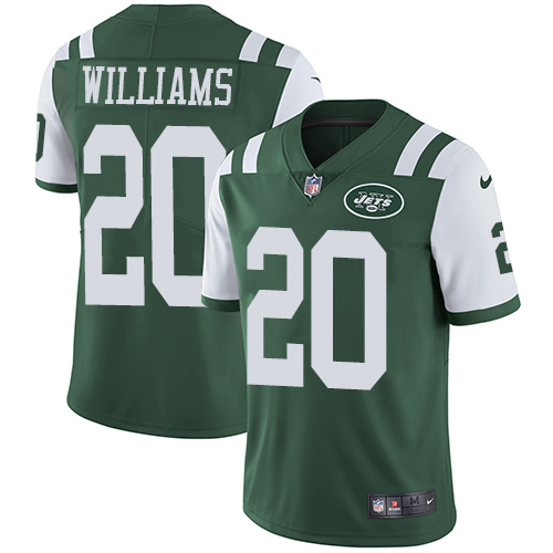 Nike Jets #20 Marcus Williams Green Team Color Men's Stitched NFL Vapor Untouchable Limited Jersey