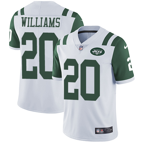 Nike Jets #20 Marcus Williams White Men's Stitched NFL Vapor Untouchable Limited Jersey