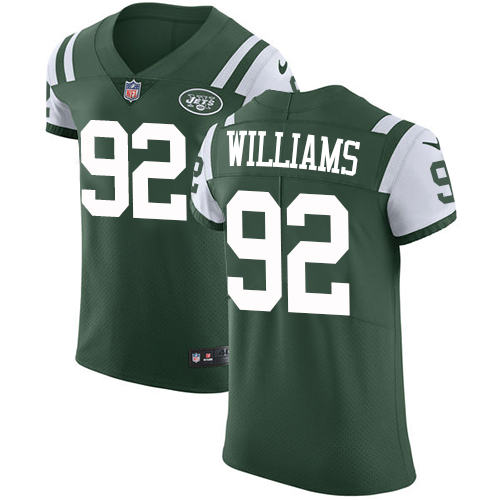 Nike Jets #92 Leonard Williams Green Team Color Men's Stitched NFL Vapor Untouchable Elite Jersey