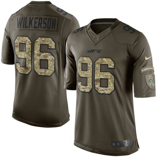 Nike Jets #96 Muhammad Wilkerson Green Men's Stitched NFL Limited Salute to Service Jersey