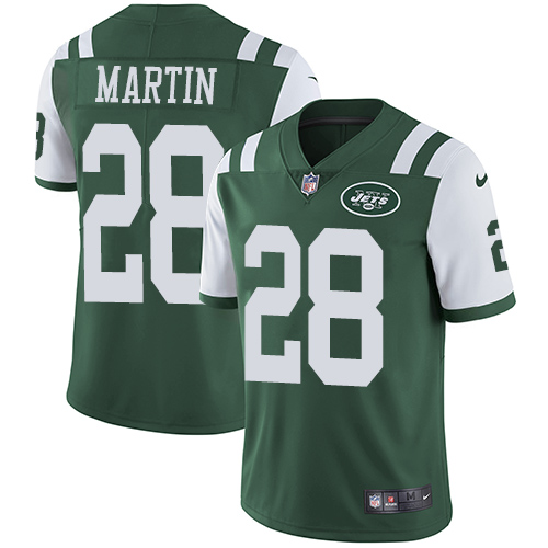 Nike Jets #28 Curtis Martin Green Team Color Men's Stitched NFL Vapor Untouchable Limited Jersey