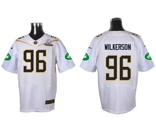 Nike Jets #96 Muhammad Wilkerson White 2016 Pro Bowl Men's Stitched NFL Elite Jersey