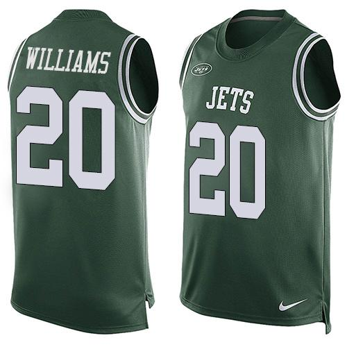 Nike Jets #20 Marcus Williams Green Team Color Men's Stitched NFL Limited Tank Top Jersey