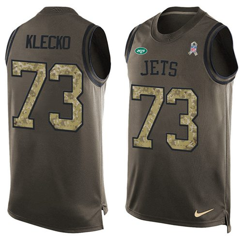 Nike Jets #73 Joe Klecko Green Men's Stitched NFL Limited Salute To Service Tank Top Jersey