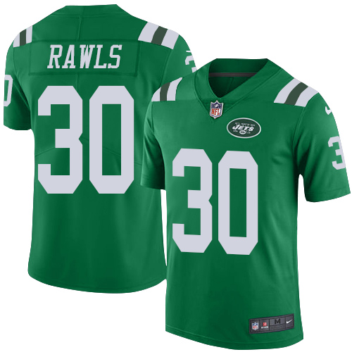 Nike Jets #30 Thomas Rawls Green Men's Stitched NFL Limited Rush Jersey