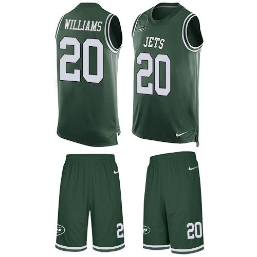 Nike Jets #20 Marcus Williams Green Team Color Men's Stitched NFL Limited Tank Top Suit Jersey