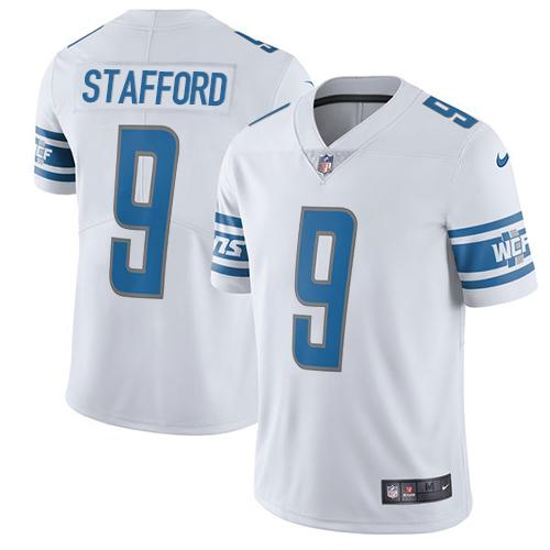 Nike Lions #9 Matthew Stafford White Men's Stitched NFL Vapor Untouchable Limited Jersey