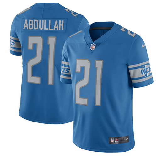 Nike Lions #21 Ameer Abdullah Blue Team Color Men's Stitched NFL Vapor Untouchable Limited Jersey