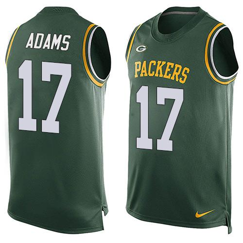 Nike Packers #17 Davante Adams Green Team Color Men's Stitched NFL Limited Tank Top Jersey