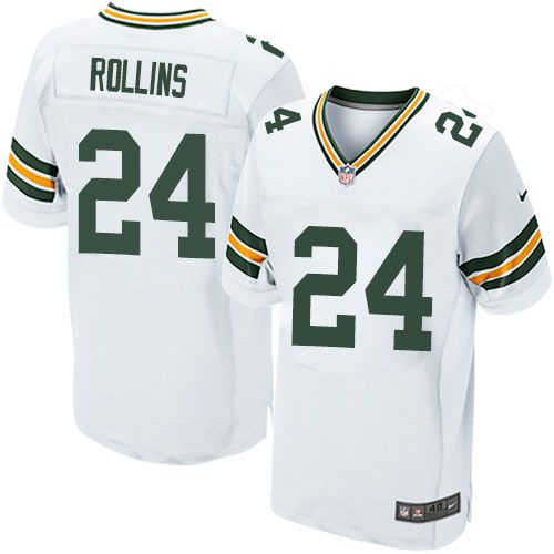 Nike Packers #24 Quinten Rollins White Men's Stitched NFL Elite Jersey