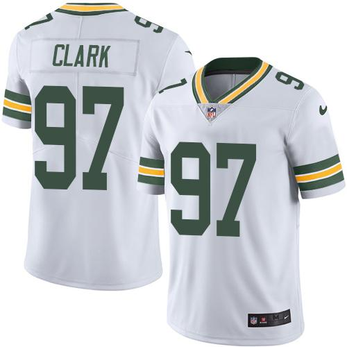 Nike Packers #97 Kenny Clark White Men's Stitched NFL Vapor Untouchable Limited Jersey