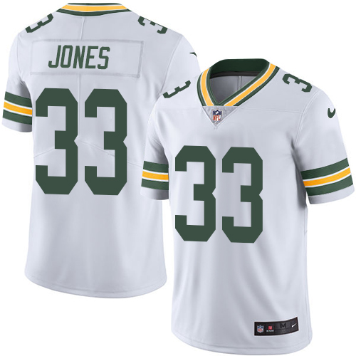 Nike Packers #33 Aaron Jones White Men's Stitched NFL Vapor Untouchable Limited Jersey