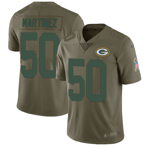 Nike Packers #50 Blake Martinez Olive Men's Stitched NFL Limited Salute To Service Jersey
