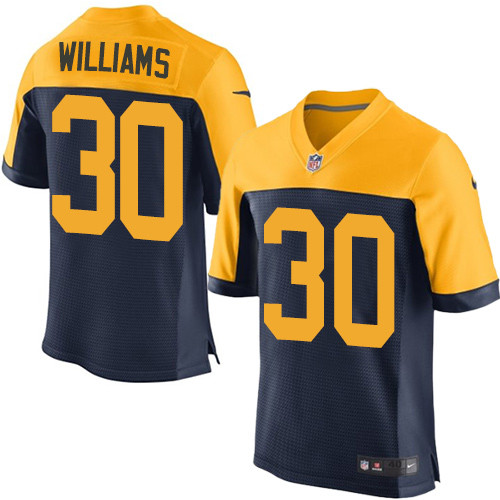 Nike Packers #30 Jamaal Williams Navy Blue Alternate Men's Stitched NFL New Elite Jersey
