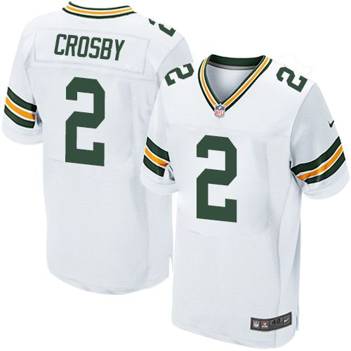 Nike Packers #2 Mason Crosby White Men's Stitched NFL Elite Jersey