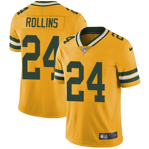 Nike Packers #24 Quinten Rollins Yellow Men's Stitched NFL Limited Rush Jersey