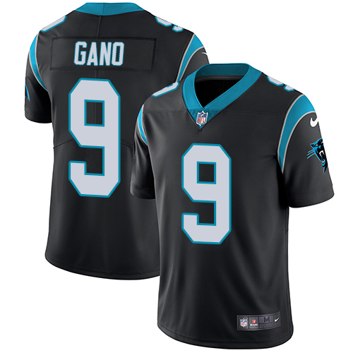 Nike Panthers #9 Graham Gano Black Team Color Men's Stitched NFL Vapor Untouchable Limited Jersey