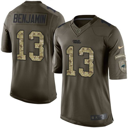 Nike Panthers #13 Kelvin Benjamin Green Men's Stitched NFL Limited Salute to Service Jersey