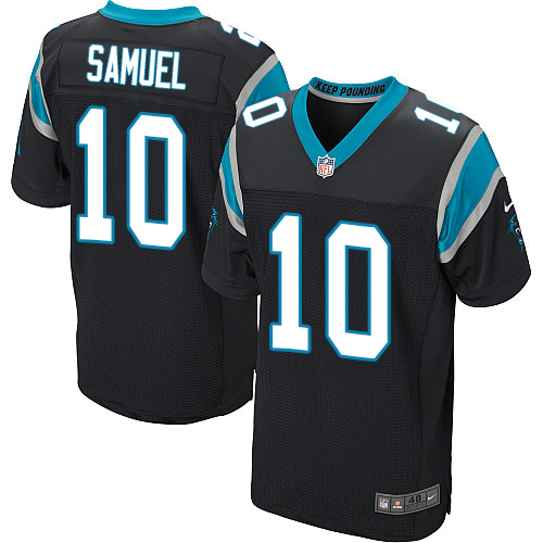 Nike Panthers #10 Curtis Samuel Black Team Color Men's Stitched NFL Elite Jersey