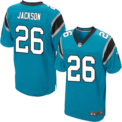 Nike Panthers #26 Donte Jackson Blue Alternate Men's Stitched NFL Elite Jersey