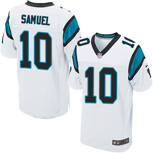 Nike Panthers #10 Curtis Samuel White Men's Stitched NFL Elite Jersey