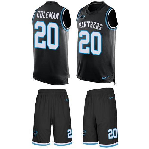 Nike Panthers #20 Kurt Coleman Black Team Color Men's Stitched NFL Limited Tank Top Suit Jersey