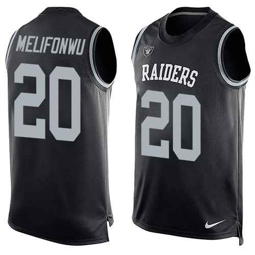 Nike Raiders #20 Obi Melifonwu Black Team Color Men's Stitched NFL Limited Tank Top Jersey