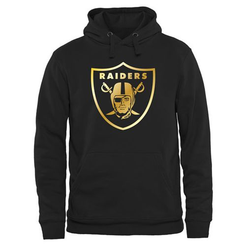 Men's Oakland Raiders Pro Line Black Gold Collection Pullover Hoodie