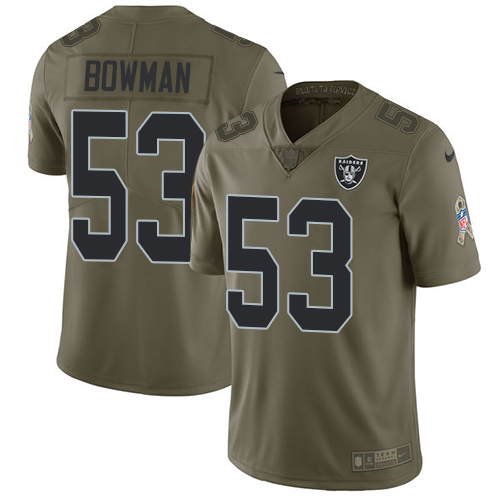 Nike Raiders #53 NaVorro Bowman Olive Men's Stitched NFL Limited Salute To Service Jersey