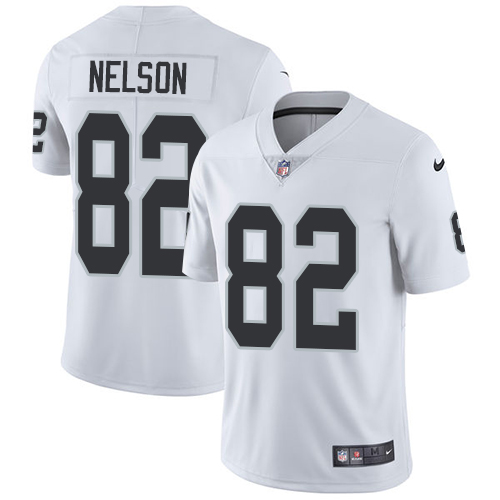 Nike Raiders #82 Jordy Nelson White Men's Stitched NFL Vapor Untouchable Limited Jersey