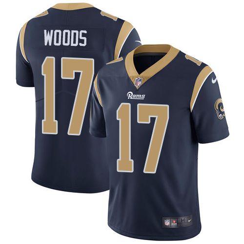 Nike Rams #17 Robert Woods Navy Blue Team Color Men's Stitched NFL Vapor Untouchable Limited Jersey