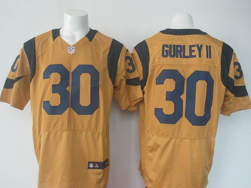 Nike Rams #30 Todd Gurley II Gold Men's Stitched NFL Elite Rush Jersey